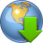 arrow, download, downloads, earth, globe, load, world icon