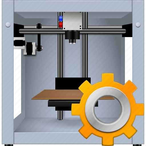 3d printing, 3dprinter, gear, options, print, printer, settings icon