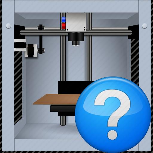 3d printing, 3dprinter, equipment, print, printer, question button, status icon