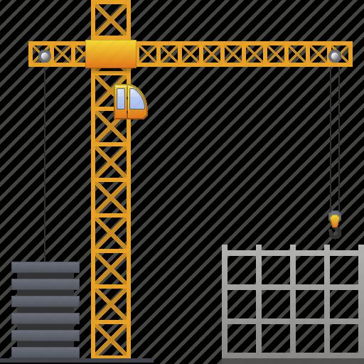 build, building crane, construct, construction, development, industry, project icon