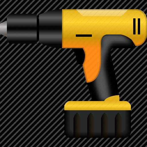 drill, equipment, hardware, hole gun, industry, instrument, perforator icon