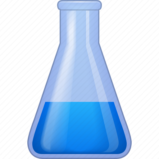 chemical glass, chemistry, clean water, flask, laboratory, retort, test tube icon