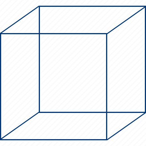 basic, cube frame, frames, model, transparency, transparent, wireframe icon