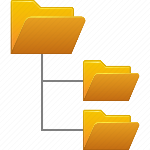 dir levels, directory, file system, folder tree, folders, hierarchy, structure icon