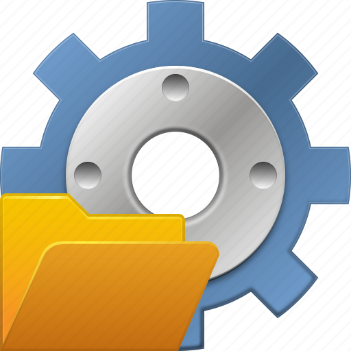 configuration, folder, load project, open settings, process, system, tools icon