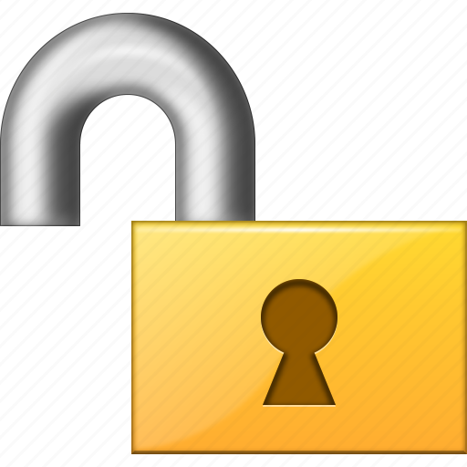 locked, login, open lock, password, secure, security, unlock icon