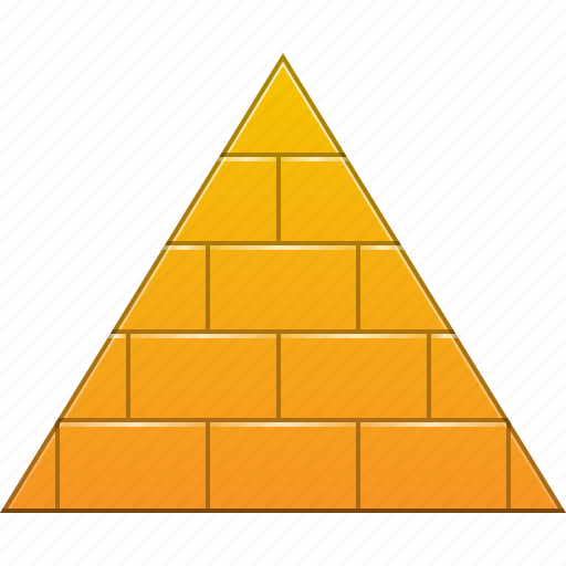 brick pyramide, construction, egypt, hierarchy, pyramid, structure, triangle icon