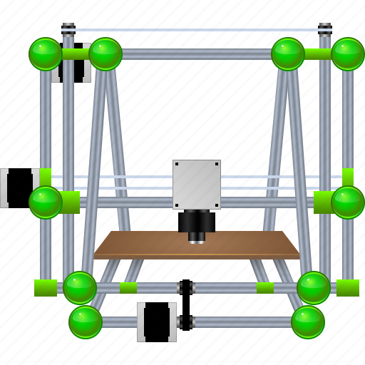 3d print, 3d printer, device, hardware, printing, replicator, reprap icon