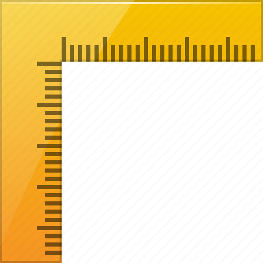 angle, corner, measure, ruler, rulers, scale, units icon