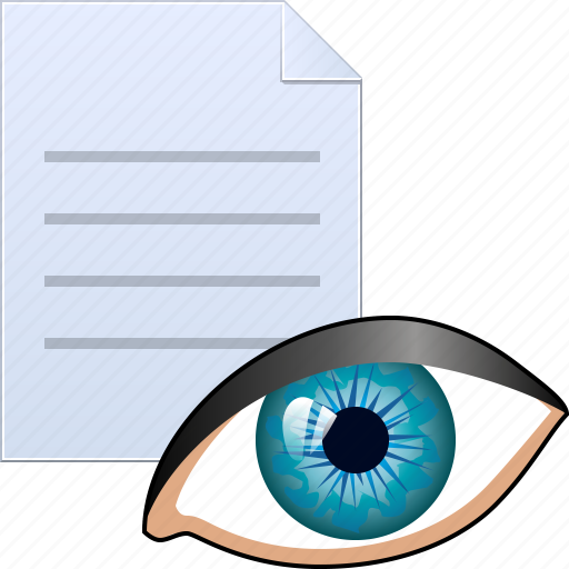 eye, eyeball, look, preview, see, vew file, vision icon