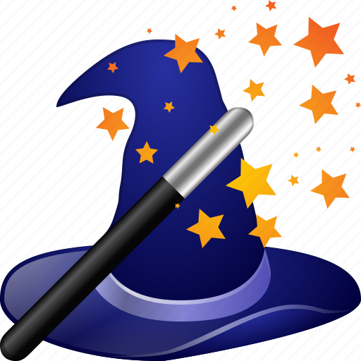 magic hat, magical, magician, wand, wise, witch, wizard icon