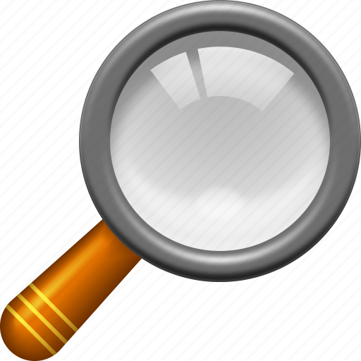 find, look, magnifier tool, magnifying glass, search, view, zoom icon