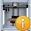 3d printing, 3dprinter, equipment, info, print, printer, status button icon
