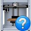 3d printing, 3dprinter, equipment, print, printer, question button, status icon