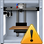 3d printing, additive technology, print, printer, problem button, replicator, warning