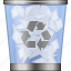clear, full dustbin, recycle bin, remove, rubbish basket, trash can, trashcan icon