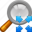 enlarge, magnifying glass, view, zoom, fullscreeen, magnifier, magnify icon