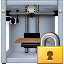 3d printing, 3dprinter, additive technology, lock, locked, print, printer icon