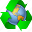 earth, ecology, globe, nature, recycle, recycling, environment