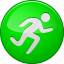 activity, go, run, running, sport, start button, training icon