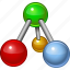 atom, chemistry, graph, hierarchy, object, project, structure icon