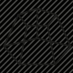 figure, geometry, pentagon, shape, solid figure, three-dimensional figure icon