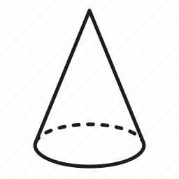 cone, figure, geometry, shape, solid figure, three-dimensional figure icon