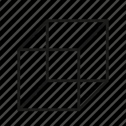 cube, figure, geometry, shape, solid figure, three-dimensional figure icon