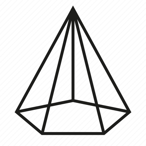 figure, geometry, pentagonal cone, shape, solid figure, three-dimensional figure icon