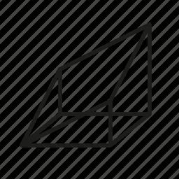 figure, geometry, irregular box, shape, solid figure, three-dimensional figure icon