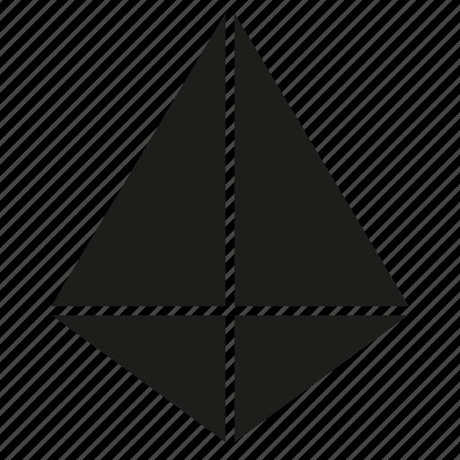 figure, geometry, pyramid, shape, solid figure, three-dimensional figure icon