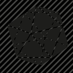 figure, geometry, icosahedron, shape, solid figure, three-dimensional figure icon