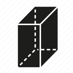 figure, geometry, rectangular box, shape, solid figure, three-dimensional figure icon