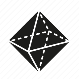 figure, geometry, octahedron, shape, solid figure, three-dimensional figure icon