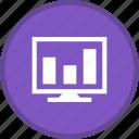 analytics, graph, lcd, screen, statistics icon
