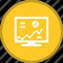 analysis, diagram, display, lcd, screen, statistics icon