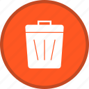 bin, delete, dustbin, recycle bin, remove, trash icon