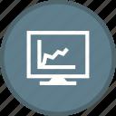 analytics, diagram, screen, statistics icon