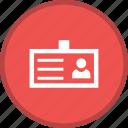business card, id card, identity icon