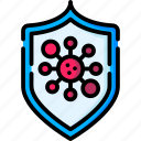 lock, protect, protection, security, shield, virus icon
