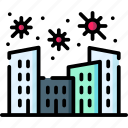 buildings, city, infected, skyscraper, town, urban