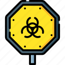 alert, biohazard, danger, toxic, warning icon