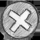 error, hand written icon