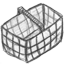 basket, empty icon