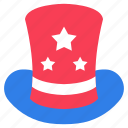 american hat, cap, headwear, party element, star hat icon