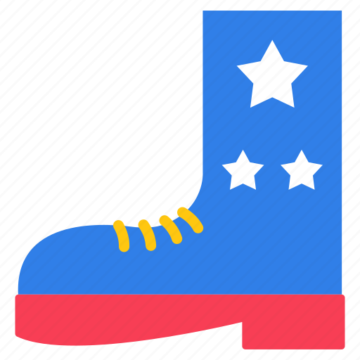 army shoe, cowboy boot, flag shoe, footgear, golf shoe icon