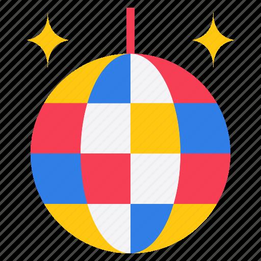 color ball, disco ball, glass ball, light ball, mirror ball icon