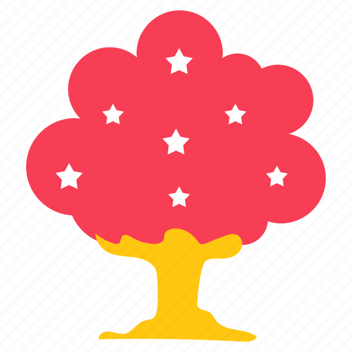 agriculture, ecology, nature, oak tree, star tree, tree icon