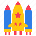 american rocket, missile, skyrocket, spacecraft, spaceship icon