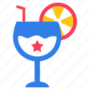 american drink, cocktail, drink glass, soda drink, soft drink icon